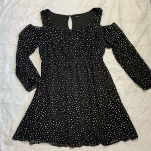 TORRID   black heart cold shoulder dress